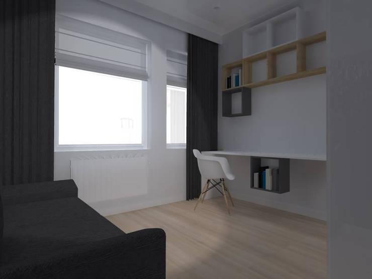 mieszkanie w Działdowie: styl , w kategorii Domowe biuro i gabinet zaprojektowany przez ap. studio architektoniczne Aurelia Palczewska-Dreszler