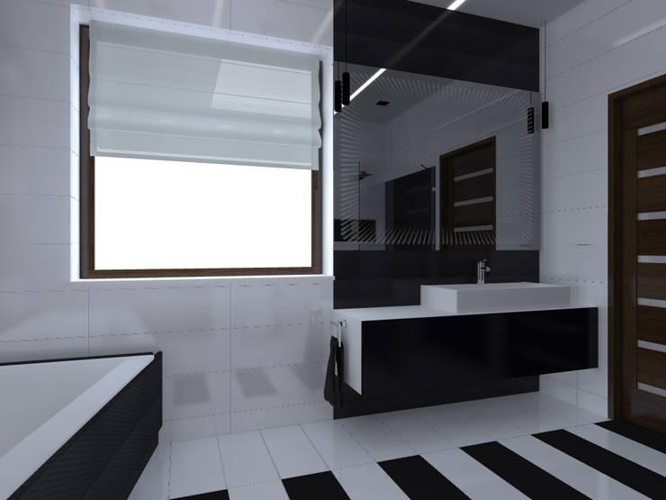 dom w Iławie: styl , w kategorii Łazienka zaprojektowany przez ap. studio architektoniczne Aurelia Palczewska-Dreszler,Nowoczesny