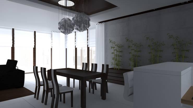 dom w Iławie: styl , w kategorii Jadalnia zaprojektowany przez ap. studio architektoniczne Aurelia Palczewska-Dreszler