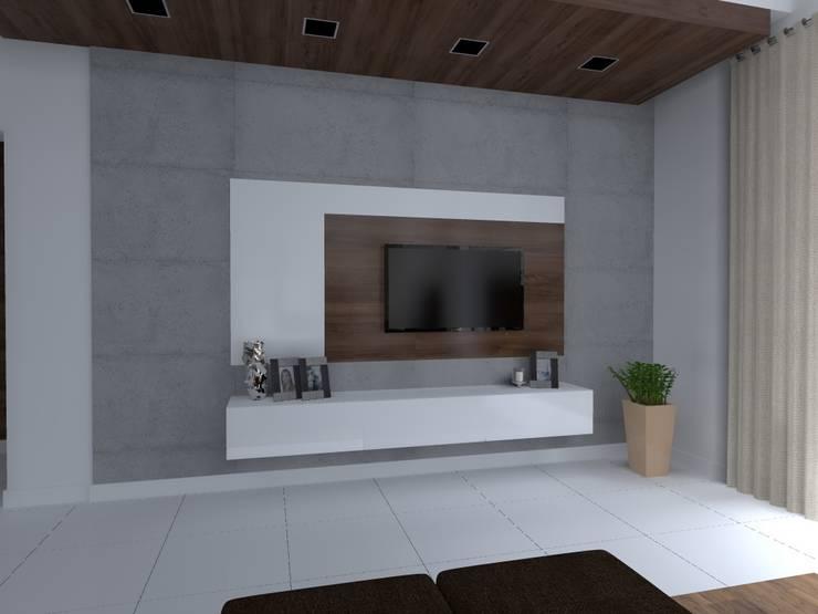 dom w Iławie: styl , w kategorii Salon zaprojektowany przez ap. studio architektoniczne Aurelia Palczewska-Dreszler,Nowoczesny