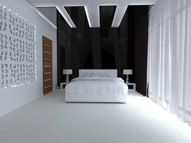 dom w Iławie: styl , w kategorii Sypialnia zaprojektowany przez ap. studio architektoniczne Aurelia Palczewska-Dreszler,Nowoczesny