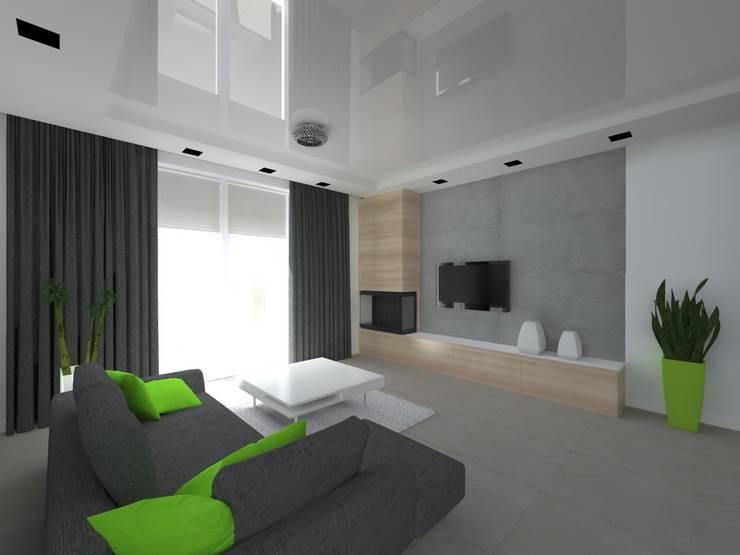 dom w Mikołajkach Pomorskich: styl , w kategorii Salon zaprojektowany przez ap. studio architektoniczne Aurelia Palczewska-Dreszler