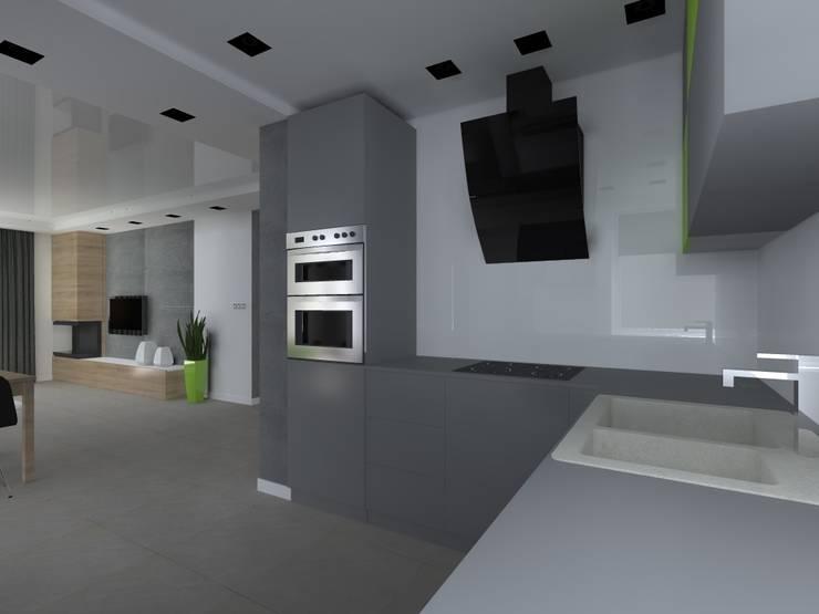 dom w Mikołajkach Pomorskich: styl , w kategorii Kuchnia zaprojektowany przez ap. studio architektoniczne Aurelia Palczewska-Dreszler