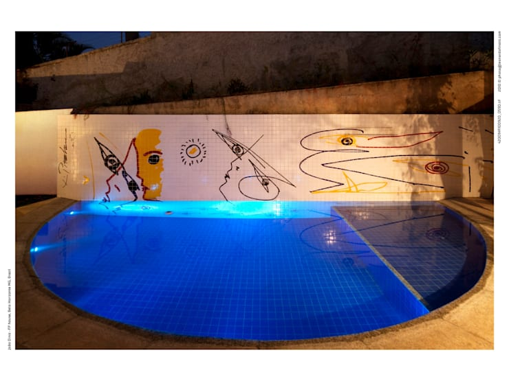 Piscinas de estilo  por JOAO DINIZ ARQUITETURA