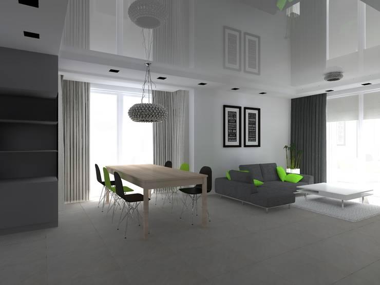 dom w Mikołajkach Pomorskich: styl , w kategorii Jadalnia zaprojektowany przez ap. studio architektoniczne Aurelia Palczewska-Dreszler