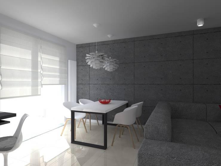 minimalistyczne mieszkanie w Iławie: styl , w kategorii Jadalnia zaprojektowany przez ap. studio architektoniczne Aurelia Palczewska-Dreszler