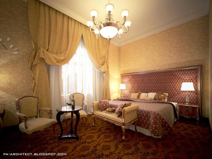 Гостиничный номер: Спальни в . Автор – Павел Авсюкевич