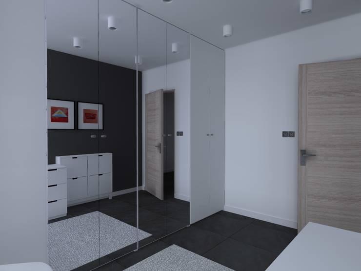 minimalistyczne mieszkanie w Iławie: styl , w kategorii Garderoba zaprojektowany przez ap. studio architektoniczne Aurelia Palczewska-Dreszler