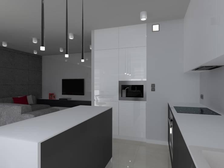 minimalistyczne mieszkanie w Iławie: styl , w kategorii Kuchnia zaprojektowany przez ap. studio architektoniczne Aurelia Palczewska-Dreszler