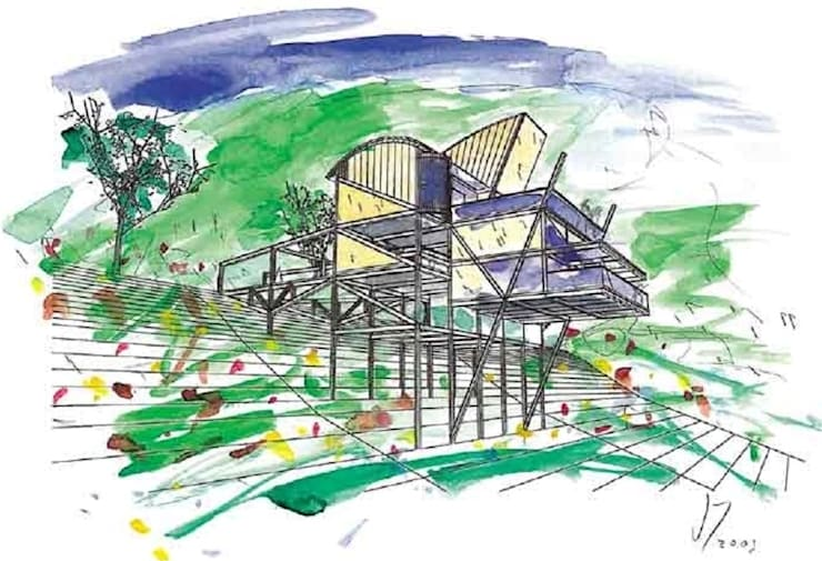 Casa Serrana por Joao Diniz Arquitetura:   por JOAO DINIZ ARQUITETURA,