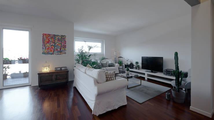 Appartamento ad Ostiense - Roma: Soggiorno in stile  di Archifacturing, Moderno