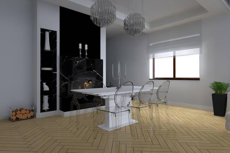 salon w Elblągu: styl , w kategorii Jadalnia zaprojektowany przez ap. studio architektoniczne Aurelia Palczewska-Dreszler