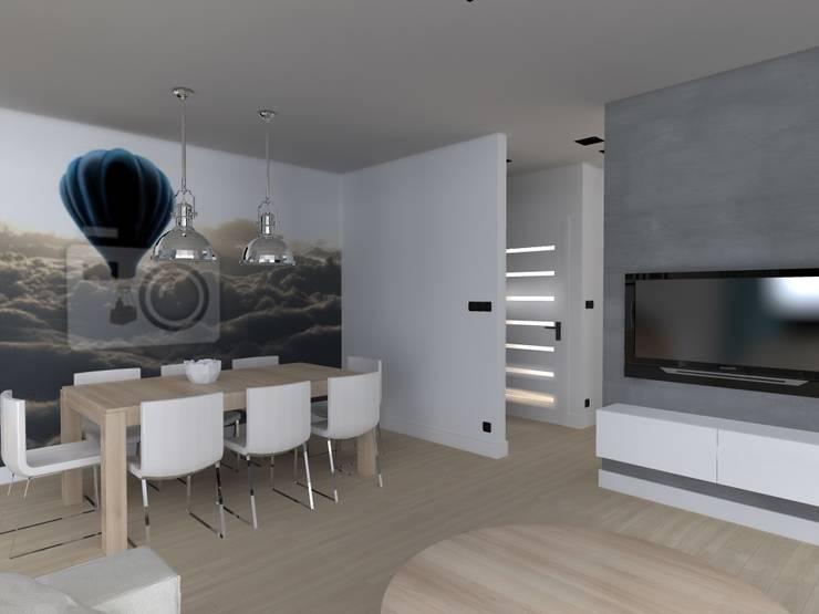 salon w Nowym Dworze: styl , w kategorii Salon zaprojektowany przez ap. studio architektoniczne Aurelia Palczewska-Dreszler