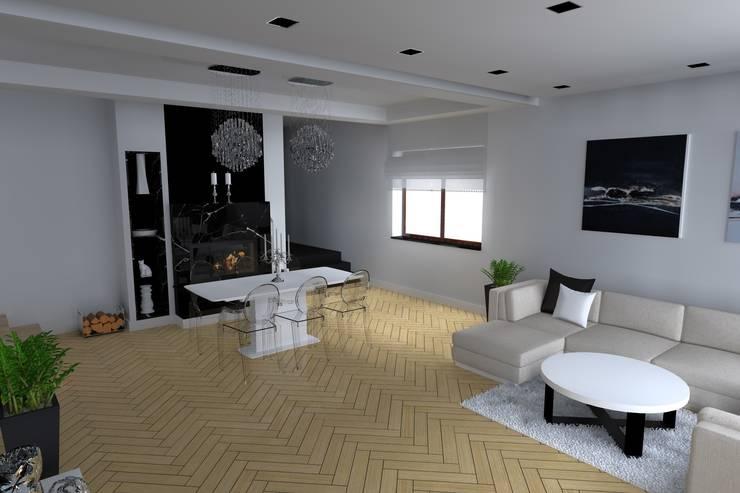 客廳 by ap. studio architektoniczne Aurelia Palczewska-Dreszler,