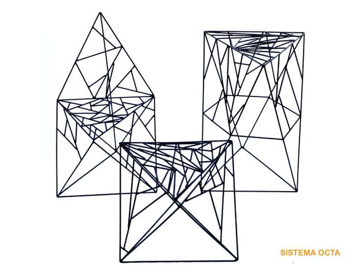 Octa System por Joao Diniz Arquitetura: Arte  por JOAO DINIZ ARQUITETURA