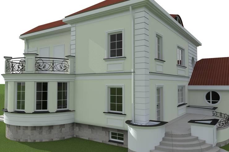 elewacje domu w Działdowie: styl , w kategorii Domy zaprojektowany przez ap. studio architektoniczne Aurelia Palczewska-Dreszler