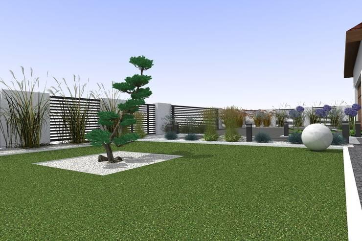 ogród w Mławie: styl , w kategorii Ogród zaprojektowany przez ap. studio architektoniczne Aurelia Palczewska-Dreszler