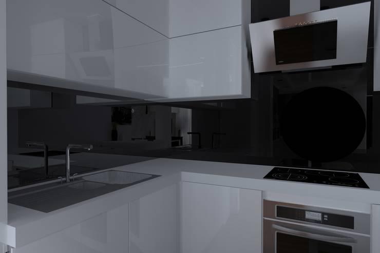 nowoczesne mieszkanie w Iławie: styl , w kategorii Kuchnia zaprojektowany przez ap. studio architektoniczne Aurelia Palczewska-Dreszler