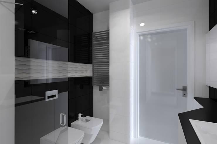 nowoczesne mieszkanie w Iławie: styl , w kategorii Łazienka zaprojektowany przez ap. studio architektoniczne Aurelia Palczewska-Dreszler