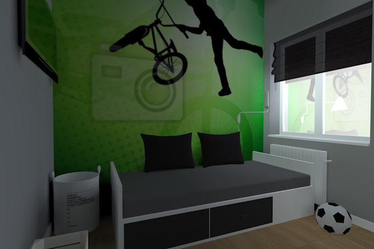 nowoczesne mieszkanie w Iławie: styl , w kategorii Pokój dziecięcy zaprojektowany przez ap. studio architektoniczne Aurelia Palczewska-Dreszler