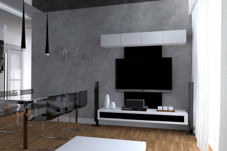 nowoczesne mieszkanie w Iławie: styl , w kategorii Salon zaprojektowany przez ap. studio architektoniczne Aurelia Palczewska-Dreszler