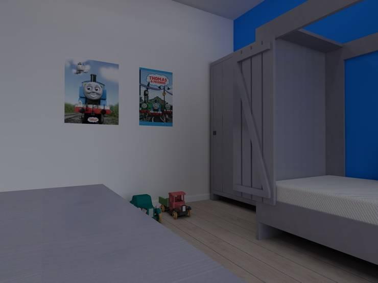 mieszkanie  industrialne w Iławie 2: styl , w kategorii Pokój dziecięcy zaprojektowany przez ap. studio architektoniczne Aurelia Palczewska-Dreszler