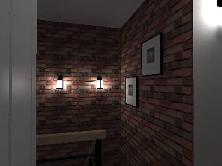 mieszkanie  industrialne w Iławie 2: styl , w kategorii Korytarz, przedpokój zaprojektowany przez ap. studio architektoniczne Aurelia Palczewska-Dreszler