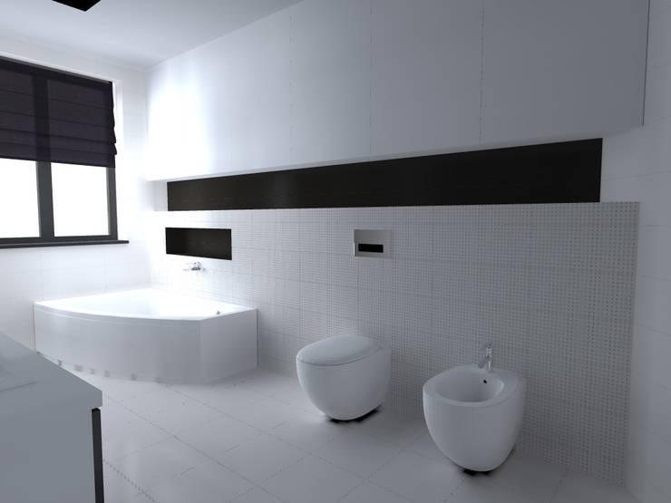 dom koło Nowego Miasta Lubawskiego: styl , w kategorii Łazienka zaprojektowany przez ap. studio architektoniczne Aurelia Palczewska-Dreszler