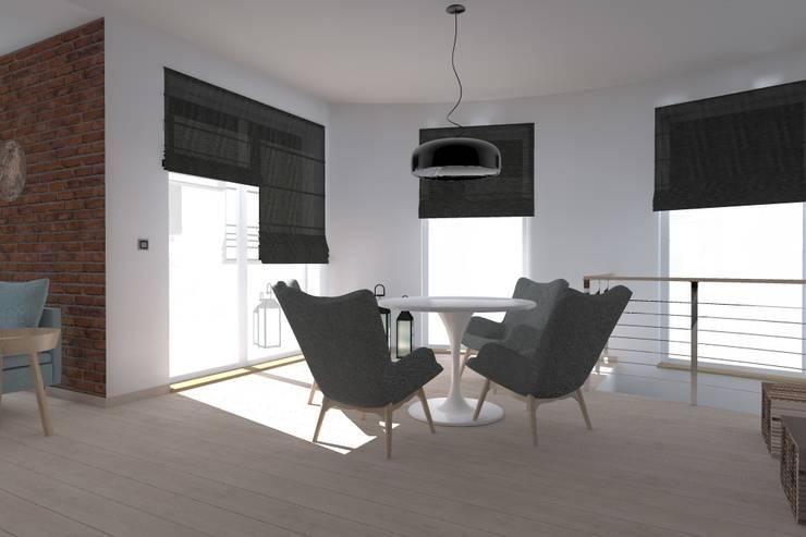 dom industrialny w Iławie: styl , w kategorii Salon zaprojektowany przez ap. studio architektoniczne Aurelia Palczewska-Dreszler