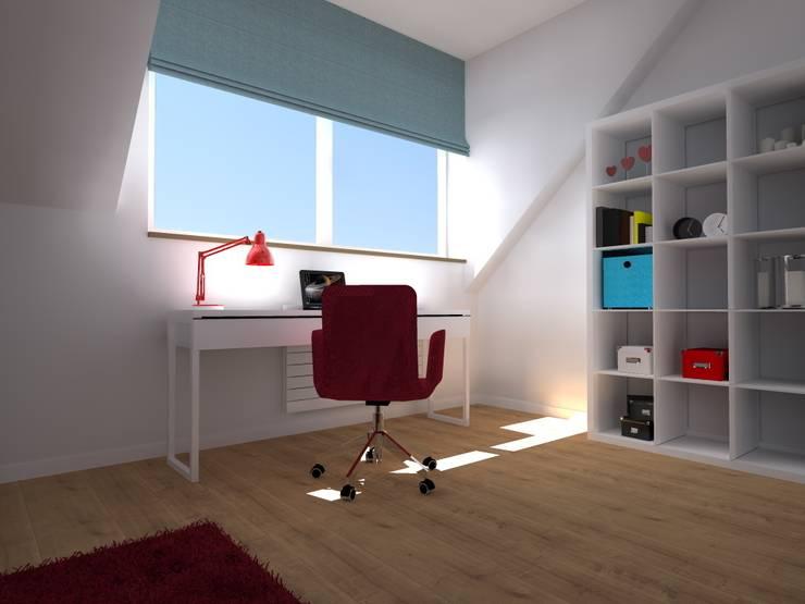 dom industrialny w Iławie: styl , w kategorii Domowe biuro i gabinet zaprojektowany przez ap. studio architektoniczne Aurelia Palczewska-Dreszler