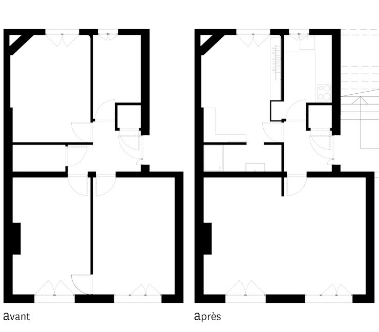 Appartement C:  de style  par Thibaudeau Architecte