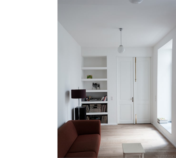 wohnen _ erdgeschoß:  Wohnzimmer von beissel schmidt architekten