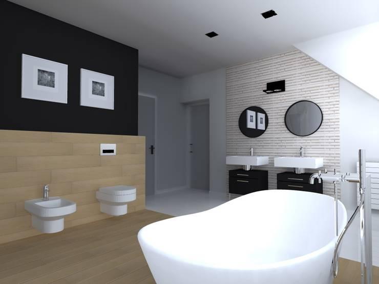 dom industrialny w Iławie: styl , w kategorii Łazienka zaprojektowany przez ap. studio architektoniczne Aurelia Palczewska-Dreszler