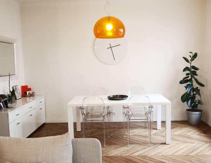 Appartement C: Salle à manger de style  par Thibaudeau Architecte