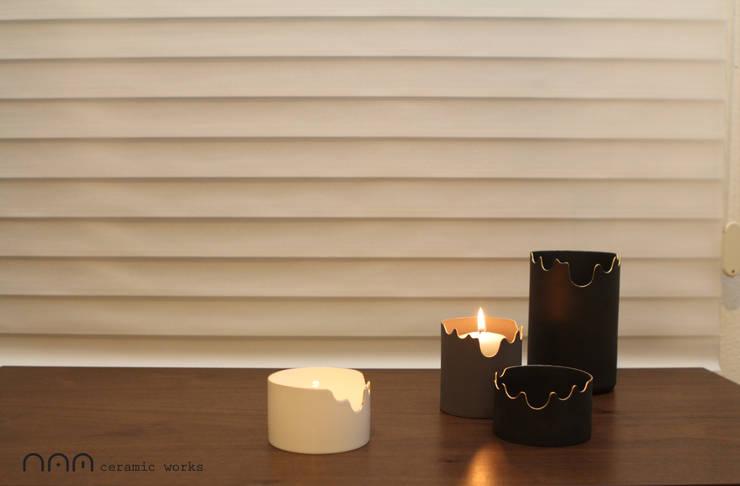 Melting candle holder: NAM ceramic works의