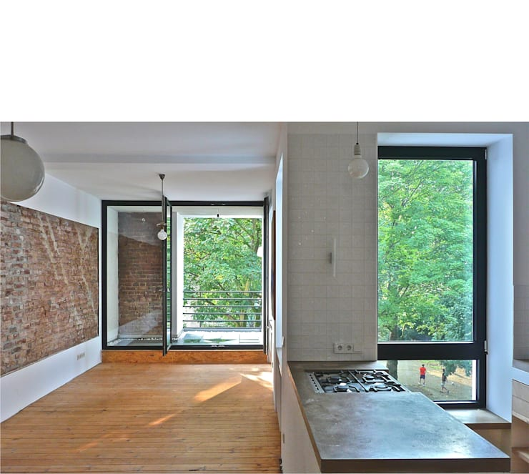 Salas de estar modernas por beissel schmidt architekten