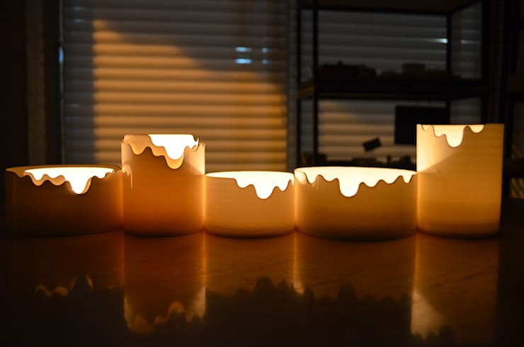 Melting candle holder: NAM ceramic works의