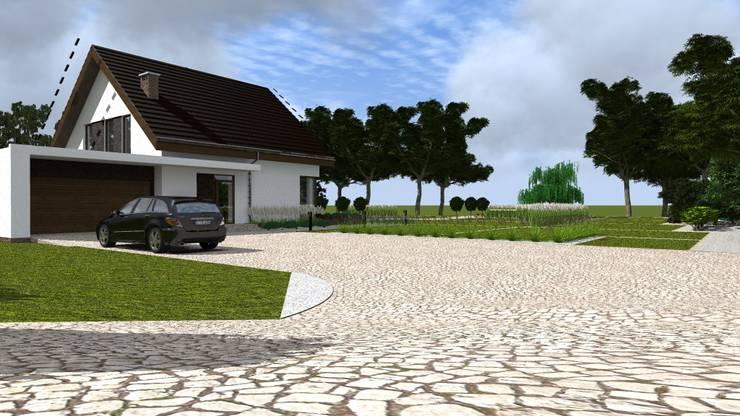 dom z ogrodem koło Nowego Miasta Lubawskiego: styl , w kategorii Ogród zaprojektowany przez ap. studio architektoniczne Aurelia Palczewska-Dreszler
