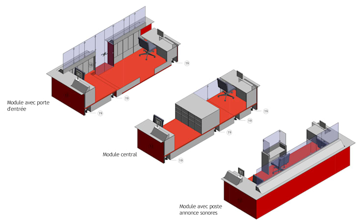 Centre G. Pompidou - Nouvelle banque d'accueil du centre - Accueil général du forum - Paris: Musées de style  par MP Consulting