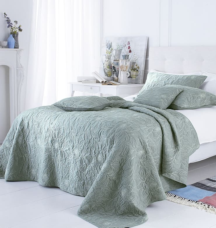 Riviera Embroidered Bedspread:  Bedroom by Marquis & Dawe