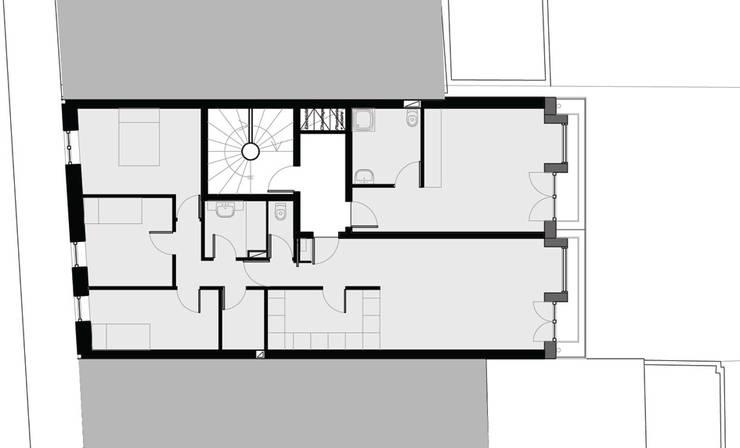 Construction neuve de 8 logements sociaux en béton de chanvre:  de style  par MP Consulting
