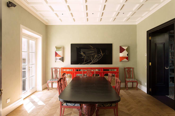 Dining room by Luigi Fragola Architects, Eclectic