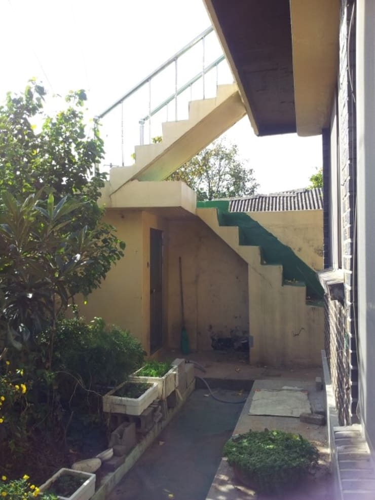 주택 리모델링: 해밀건축사사무소의  베란다,미니멀