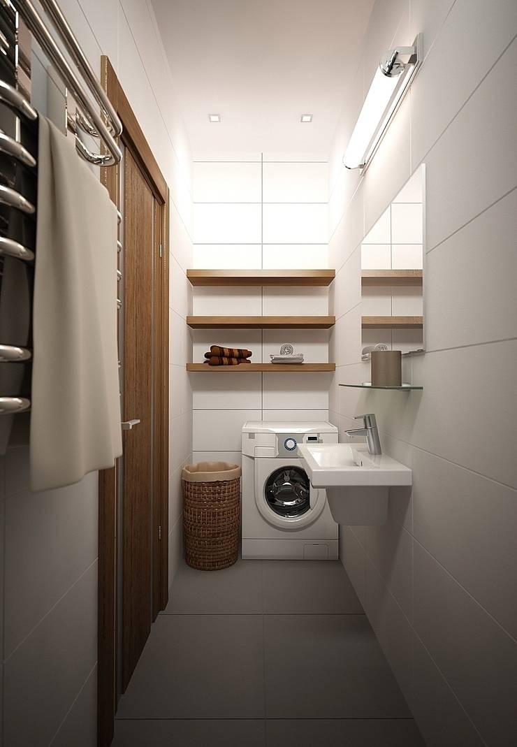 Квартира, ж/к Южный берег,  Красноярск: Ванные комнаты в . Автор – ELENA AFONICHEVA