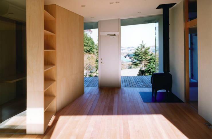 藤沢の家: 小平惠一建築研究所が手掛けたリビングです。