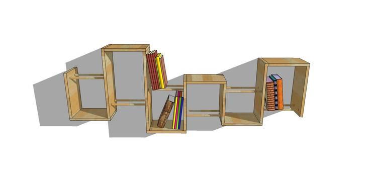 Bibliothèque design bois : Bureau de style  par Bibliotek.fr