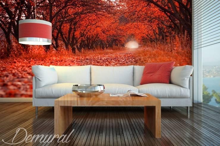 An autumn road:  Living room by Demural