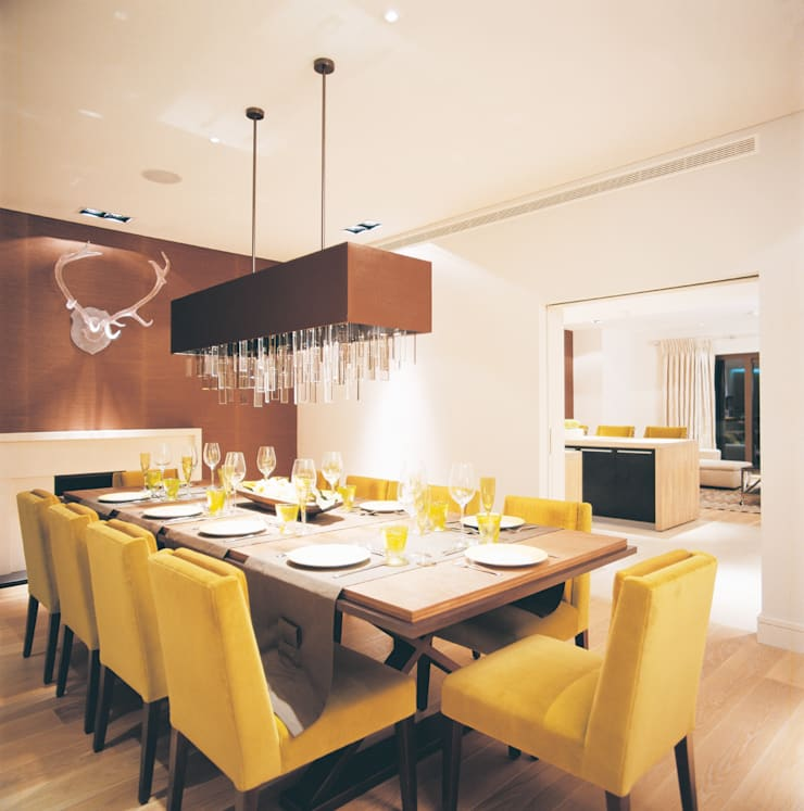 Phillimore Square:  Dining room by KSR Architects