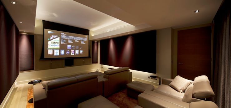 Holford Road 2: modern Media room by KSR Architects
