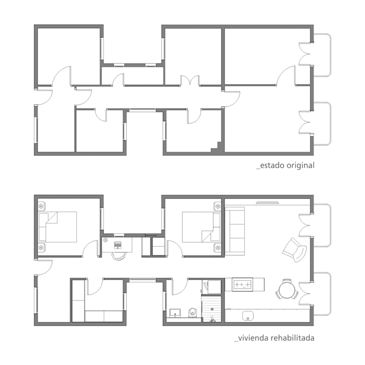 Proyecto de reforma:  de estilo  de Torres Estudio Arquitectura Interior